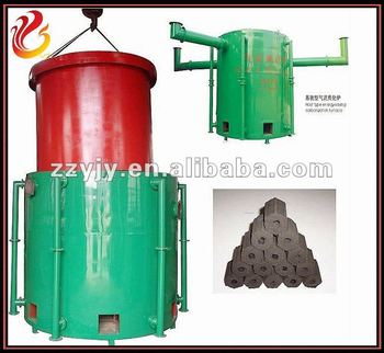 Air current lifting type carbonized stove