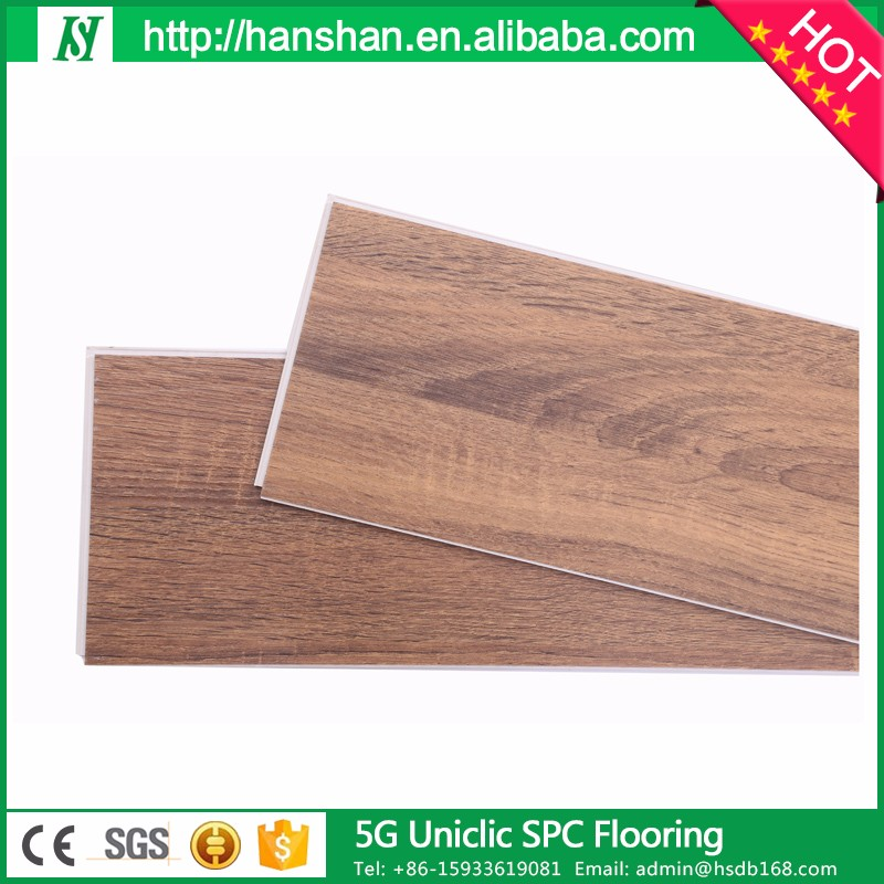 5g Uniclic PVC SPC WPC LVT click vinyl <strong>flooring</strong> for american plaza shopping center