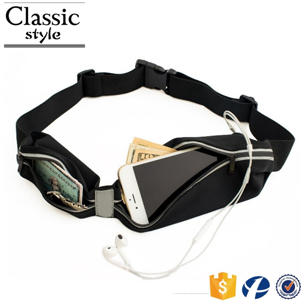 Adjustable Fitness Workout Fanny Pack Waterproof Neoprene Waist Bag Mobile Phone Case For Running Waist