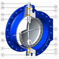 Double Flanged Long Type Butterfly Valve