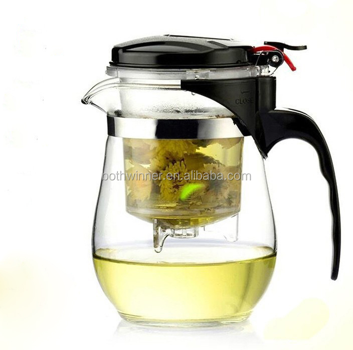 Cheap tea pots ,h0t3nP glass tea pot with glass infuser for sale