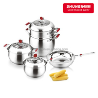 NEW DESIGN high quality stainless steel SS18/8 cookware sets pot pan set