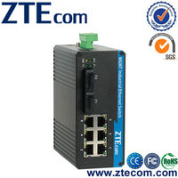 Industrial Managed Ethernet Switch with 6FE and 2 fiber ports
