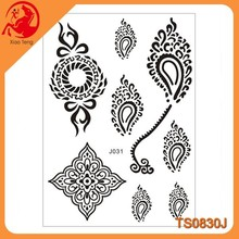 2015 online wholesale sexy tattoo/New arrival white and black henna tattoos stickers