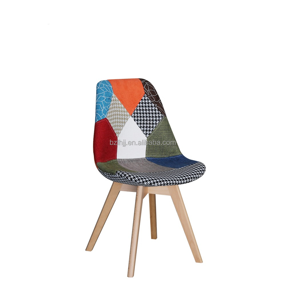 elegant design comfortable seat plastic patchwork dining tulip <strong>chair</strong>