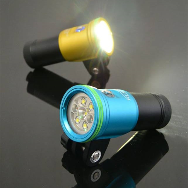 Wide Angle Without Hotspot Photo Video Dive Light Gopro