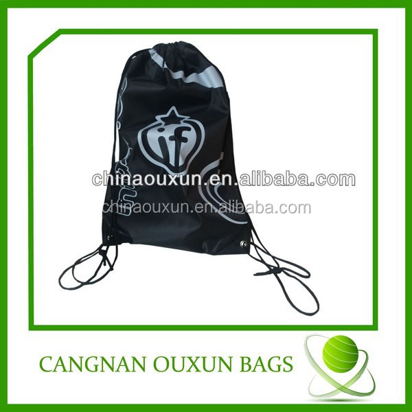 Durable new products polyester plain drawstring bags