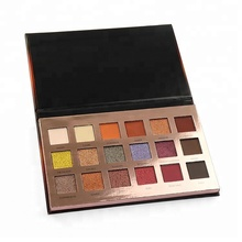 New design high pigment cardboard 18 color private label eyeshadow palette