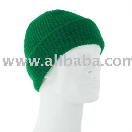 Value Knit - Kelly Green Ski Hat - Dozen Packed - Made in USA