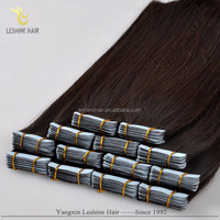 Alibaba New Arrival Double Drawn Private Label Brand Name Remy skin weft pu remy hair extension