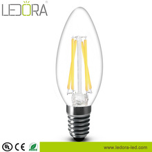 UL CE RoHS approved 2w 4w 6w led filament bulb 240v dimmable 2200k