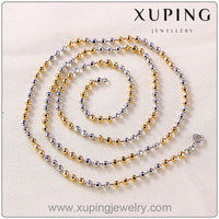41262 Xuping Beaded Long Necklaces Jewellery, Latest Simple Designs Beaded Necklace