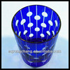 Hand engrave round circle design colored drinking glass