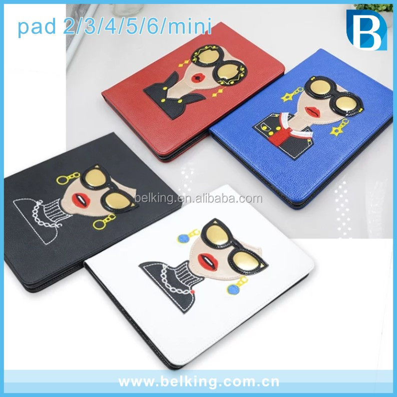 Fashion Design Folding Standard Leather Tablet Cover Case For iPad 2 3 4 5 6