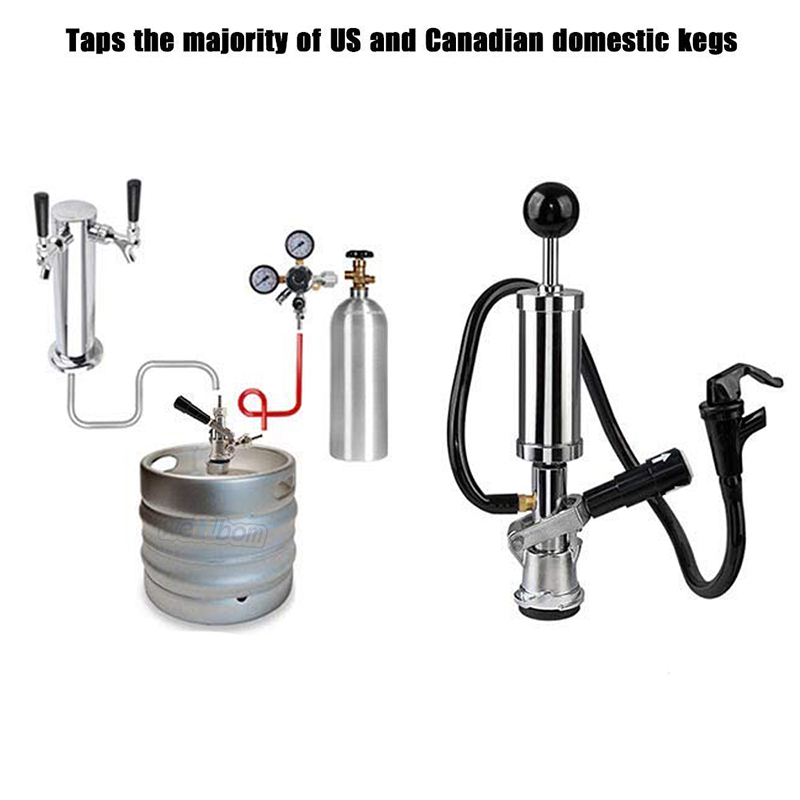 Keg Coupler D System Pressure Relief Safety Device W/ SS Keg Coupler Ball Lock Post Conversion Kit kit