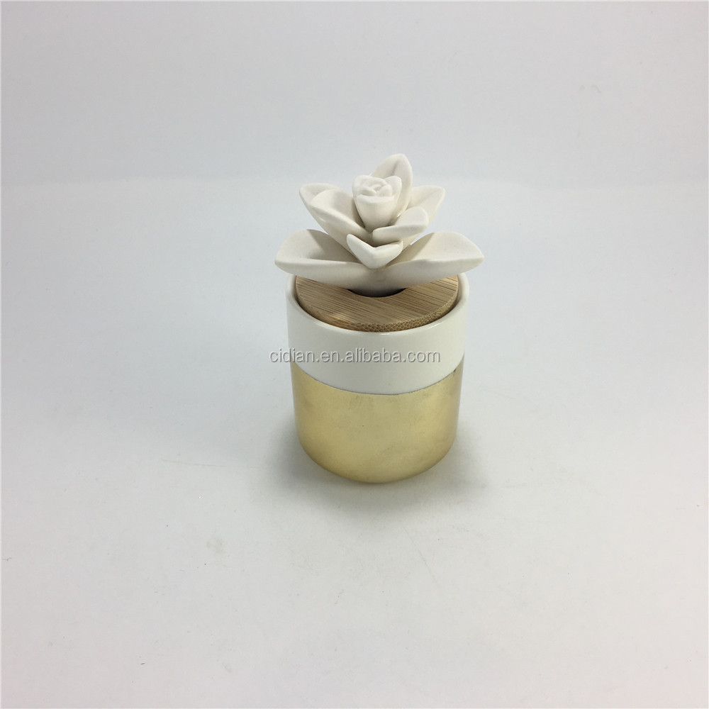 Ceramic chrysanthemum design air reed oil diffuser for house