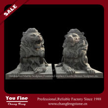Outdoor brass lion statue