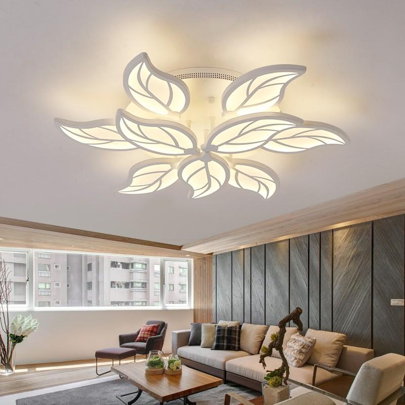modernas lmparas de techo led para sala de estar dormitorios flor forma md acv