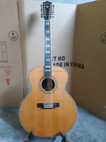 free shipping solid OEM custom 12 string acoustic electric guitar left handed 12 string guitar