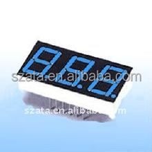 top sale blue color 0.5 inch 3 digits 7segment led digit display module