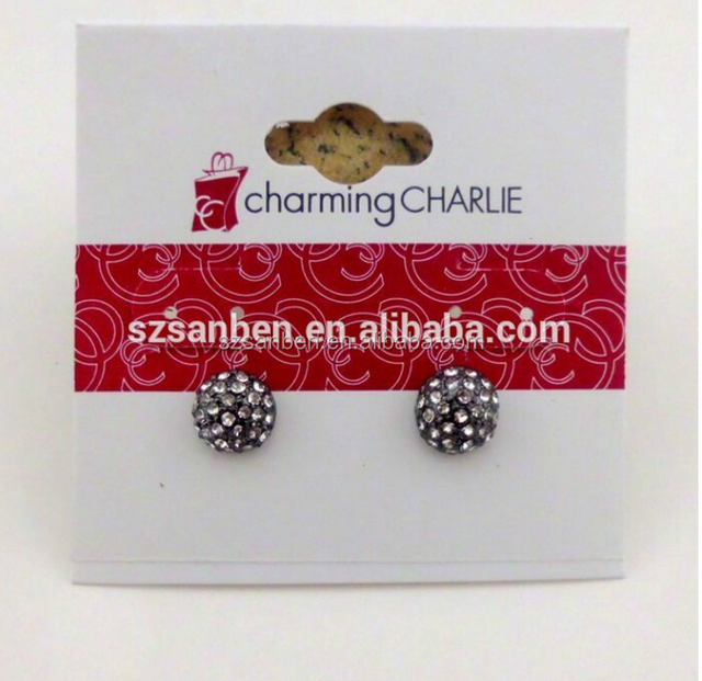 EXW price custom printed necklace earring cards,paper jewelry display card,printing jewellery hang tag