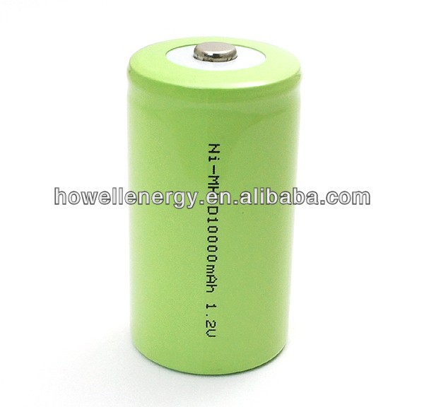 1.2v NiMH battery/hot sale D size nimh battery/1.2v 10Ah nimh rechargeable battery