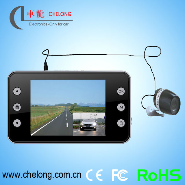 Chelong ISO9001 Hot 2.7 inch dual camera 720P car black box camcorder