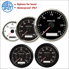 RPM Gauge Tachometer with Digital Hour Meter 4000RPM Tachometer Boat