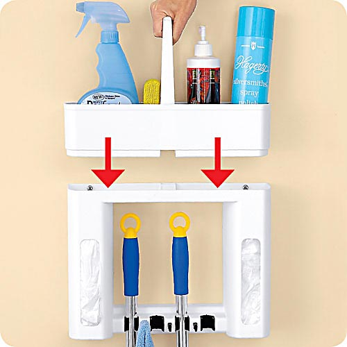 Wall Mounted Cleaning Tool Storage Box Organizer