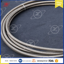 HY-003 stainless steel PTFE teflon braided tube assemblies with connector