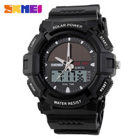 new arrival solar analog digital watch,strong durable power