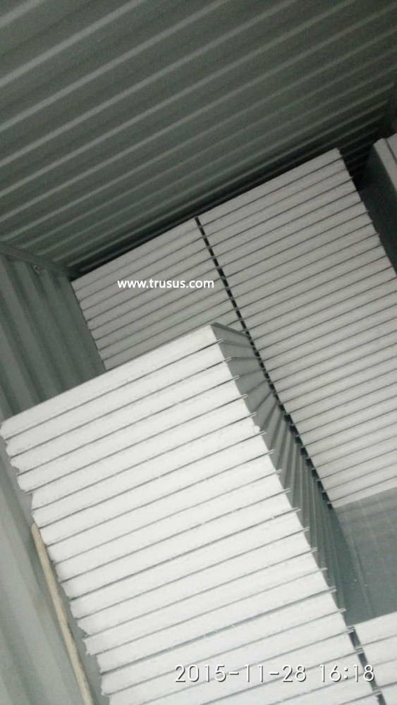 CE&ISO approved Partition Wall Light Steel Structure Large Span Building Sandwich Panel