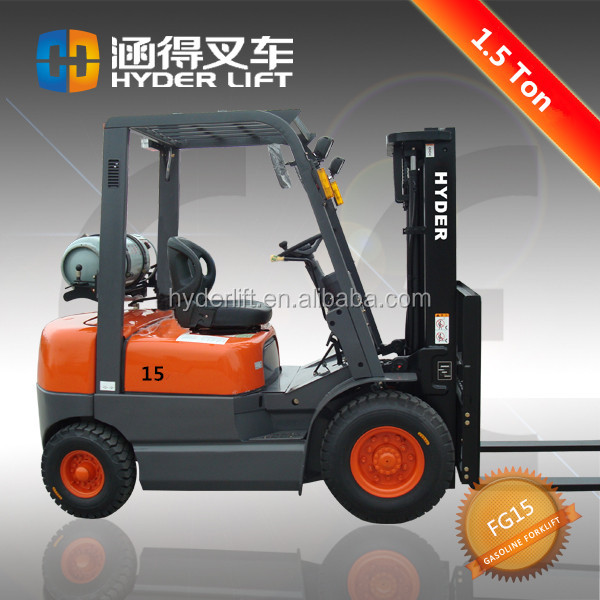 gasoline mini atv 1.5t gas forklift with CE made in China