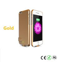 New 4200mAh External Battery Cover Backup Charging Power Case for iPhone 5 5c 5s color Golden High quality