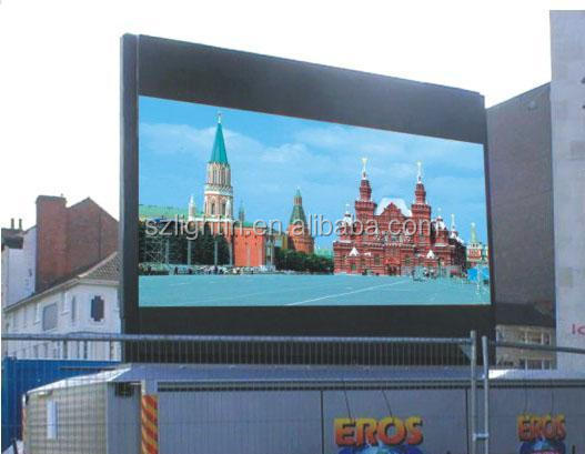 Save Energy Outdoor P13.33 DIP LED Full Color Display Advertising LED Screen
