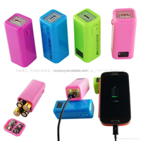 hot selling colorful and portable outdooors AA battery cell phone charger power bank