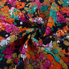 100% polyester multi color embroidered sequin lace fabric