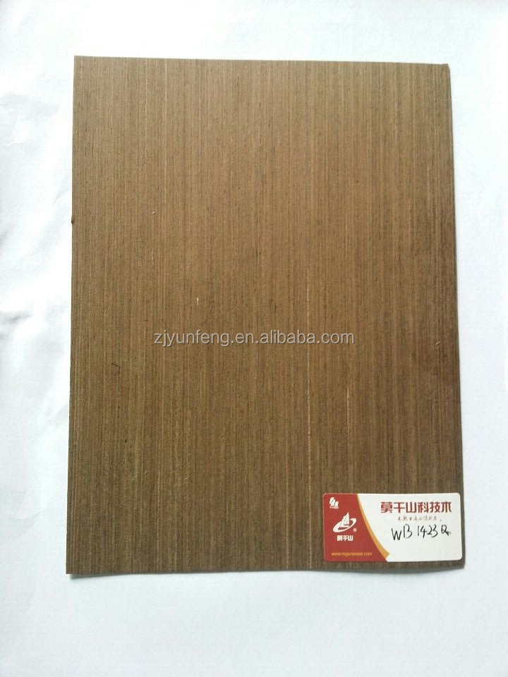 economy sliced cut black wenge door skin reconstructed wood veneer for decoration 1423Q