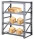 Collapsible warehouse storage rack cabinets shelf slotted angle iron racks
