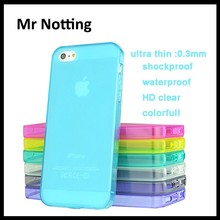 fancy ultra thin cell phone silicon clear case for iphone 5 5s 0.3mm thickness