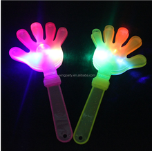 fuxing flashing hand clapping, flashing hand shoot, palm shoot, fingers hand, concert clap hand tools, led hand clap toy factory