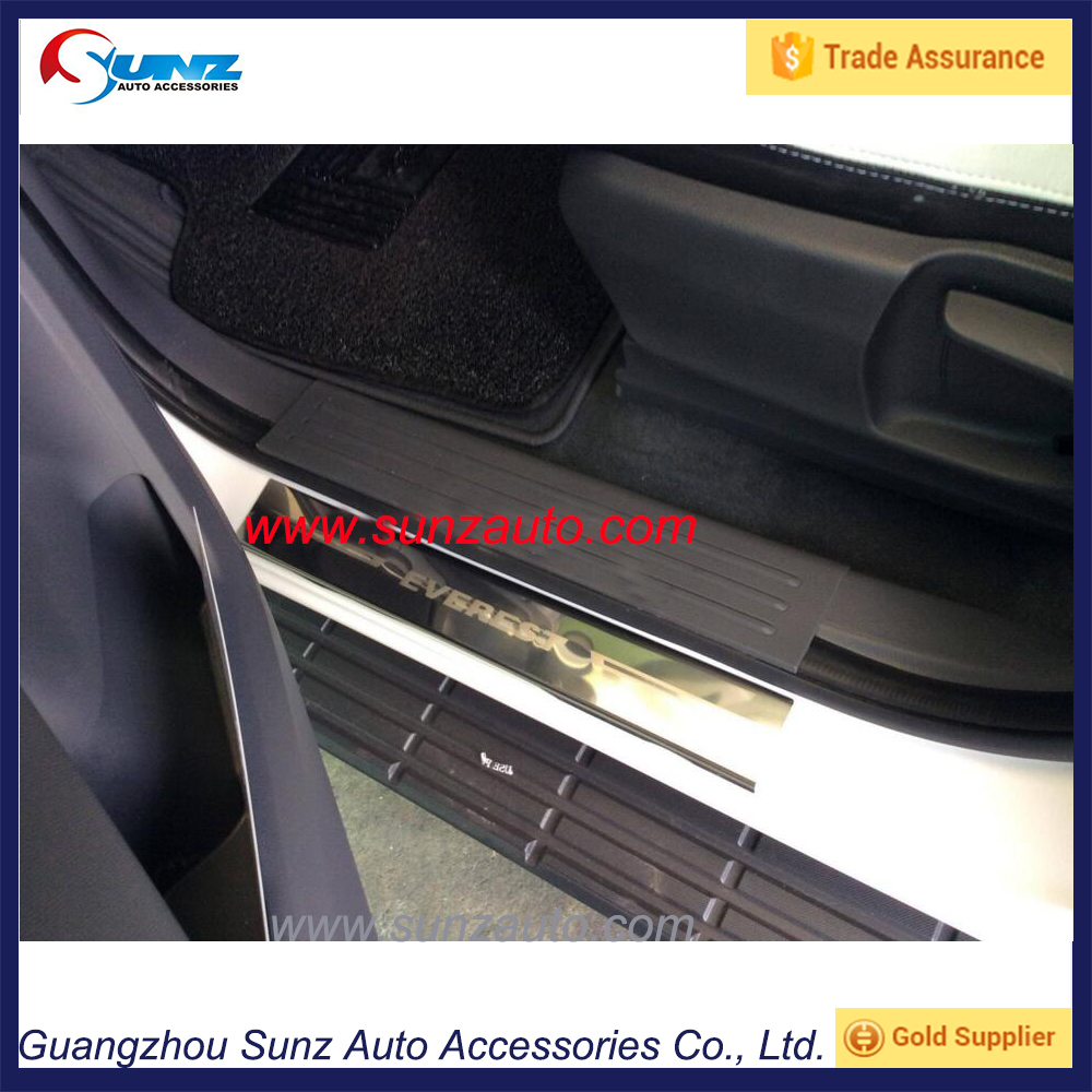 EVEREST 4 DOOR SCUFF PLATES STAINLESS STEEL DOOR SILL COVER FOR FORD EVEREST SUV 3.2 2015 16