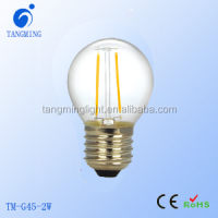 LED Golf Ball Filament bulb LED bulb G45 E27 1w/2W/3w/4w sapphire competitive price