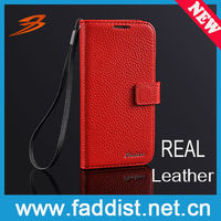 wallet case for samsung galaxy s4 genuine leather case lychee grain