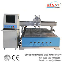 price cnc wood carving machine for sale\two pneumatic head\HSD spindle\TBI ball screw\YASKAWA motor\CE,ISO9001