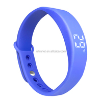 W5 Good fitness Exercise data memory smart pedometer watch with silent alarm and real-time temperature display