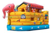Giant inflatable pirate ship water slide,inflatable combo bouncers M3061