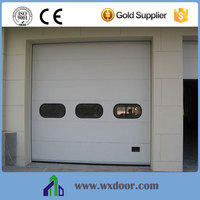 JAD Brand China Supplier Customized Industrial Overhead Door with vision window