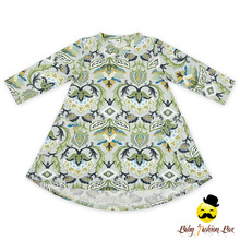 Latest Design Baby Frock Casual Simple Dresses Long Sleeve With Two Pocket Baby Frock Designs