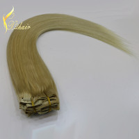 cheap blond color clip in hair extension china suppliers